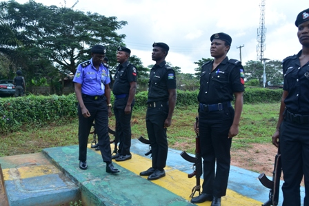 The-CP-inspecting-a-quater-guard PROTECT YOURSELF FIRST, CP URGES OFFICERS
